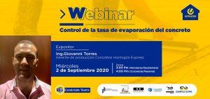 Webinar: Control de la tasa de evaporación del concreto